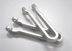亜鉛を銅+光沢ニッケル+サチライトニッケルで加工した部品