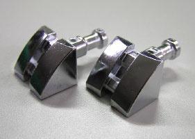 亜鉛を銅+光沢ニッケル+クロムで加工した部品